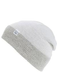 Double faced merino wool beanie white medium 1139086