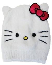Hello Kitty Girls Beanie White 4 16
