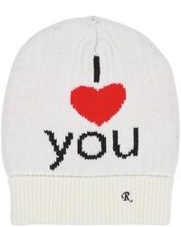I love you jacquard wool beanie hat medium 4417013