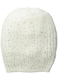 La Fiorentina Ribbed Beanie With Jewels