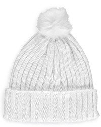 Boohoo Lilly Faux Fur Pom Beanie Hat