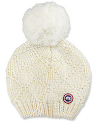 Oversized wool pompom beanie hat medium 1210546