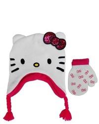 Hello Kitty Toddler Girls Beanies White 2t 5t