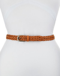 Neiman Marcus Braided Faux Leather Belt Vachetta