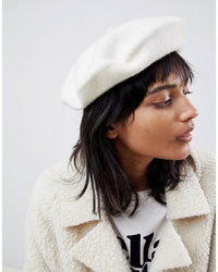 ASOS DESIGN Wool Beret With Bound Edge