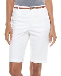 Gloria Vanderbilt Anita Belted Bermuda Shorts