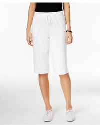 Karen Scott Pull On Active Bermuda Shorts Created For Macys