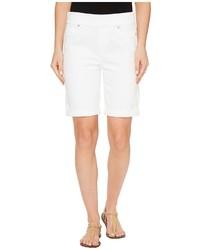 Liverpool Sienna Pull On Rolled Cuff Bermuda Slub Stretch Twill In Bright White Shorts