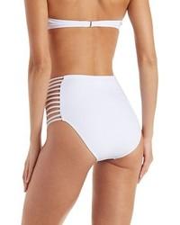 Charlotte Russe Caged High Waisted Bikini Bottoms