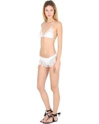 Ermanno Scervino Fringed Lace Lycra Bikini Bottoms