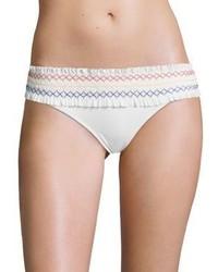 Tory Burch Smocked Costa Hipster Bikini Bottom