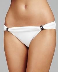 Vix Solid White Bia Tube Bikini Bottom
