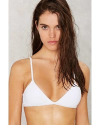 Nasty Gal Alina Mix Match Bikini Top White