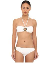 Michael Kors Michl Kors Must Have Solids Bandeau Bikini Top And Classic Bottom Set
