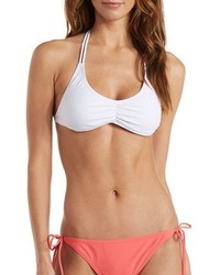 Charlotte Russe Mix Match Braided T Back Bikini Top