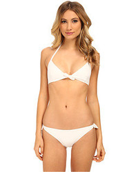 Proenza Schouler Tie Front Triangle Top W Side Tie Bikini Bottom Swimwear Sets