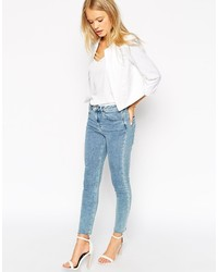 00ab451a14 ... Asos Collection Linen Cropped Blazer ...