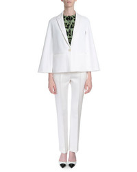 Givenchy Cape Sleeve One Button Jacket White