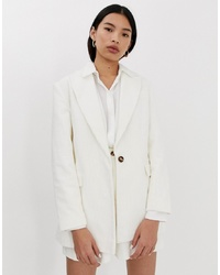 ASOS DESIGN Cream Cord Suit Blazer