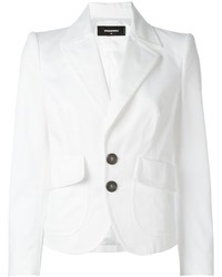 Dsquared2 Cropped Peaked Lapel Blazer