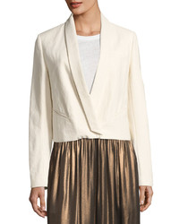 Brunello Cucinelli Ethnic Canvas Blazer Off White