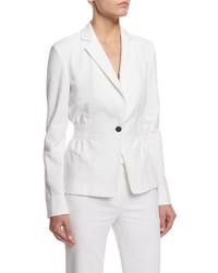 Diane von Furstenberg Gavyn Textured Blazer White