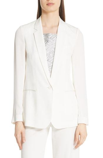 Theory Grinson Silk Suit Jacket