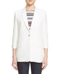 Elizabeth and James Heritage Single Button Crepe Blazer