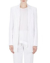 Givenchy Lace Jacquard Elongated Blazer White