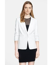 Elizabeth and James Lambskin Leather Blazer