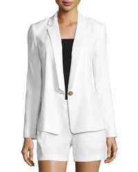 Laundry by Shelli Segal Linen Blend One Button Blazer