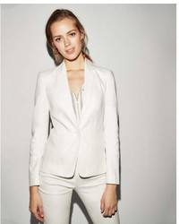 Express Linen Blend One Button Blazer