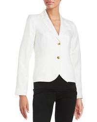 Calvin Klein Linen Blend Two Button Blazer
