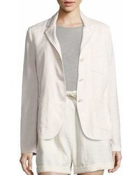 Vince Linen Silk Blend Three Button Blazer