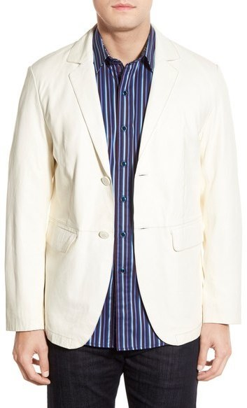Missani Le Collezioni Lambskin Leather Sport Coat | Where to buy