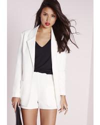Missguided Boyfriend Suit Blazer White