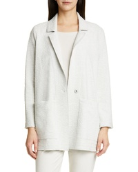 Eileen Fisher Notch Lapel Boxy Jacket