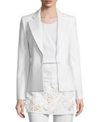 3.1 Phillip Lim One Button Welt Pocket Blazer White