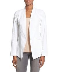 Eileen Fisher Organic Linen Blend One Button Jacket