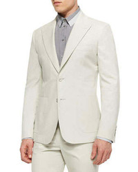 Dolce & Gabbana Peak Lapel Two Button Jacket Ivory