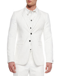 Burberry Prorsum Two Button Sport Jacket White
