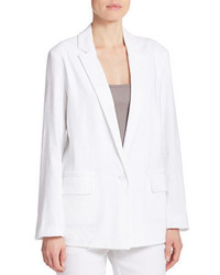 DKNY Pure Single Button Linen Blend Blazer
