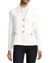 St. John Santana Knit Three Button Blazer