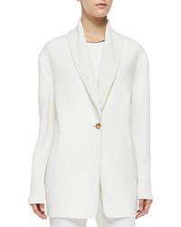 Vince Shawl Collar Knit Blazer Cardigan Winter White
