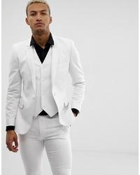 ASOS DESIGN Super Skinny Suit Jacket In White