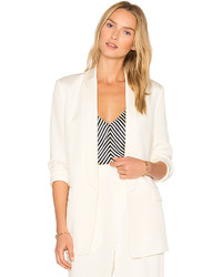 Alexander Wang T By Charmeuse Blazer In Ivory Size 0