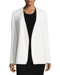 Alexander Wang T By Crepe Open Front Blazer Off White