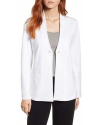 Eileen Fisher Tencel Lyocell Blend Knit Blazer