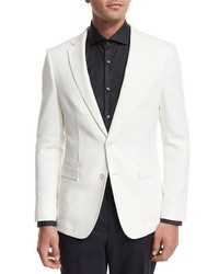 BOSS Textured Two Button Sport Coat White