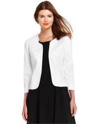 Tahari Three Quarter Sleeve Open Front Blazer
